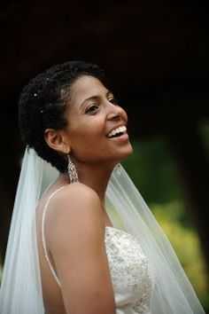 African American Wedding Hairstyles & Hairdos: Natural Sophistication: Real Bride