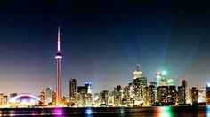 most beautiful cities at night in the world.  Toronto Ontario, Canada