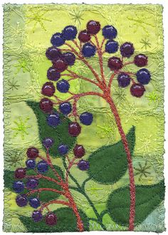 Elderberries 2 by Kirsten's Fabric Art, via Flickr