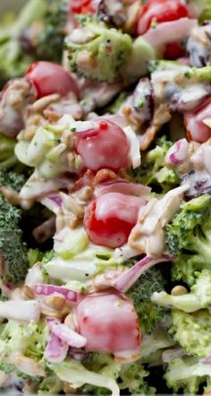 Crunchy Broccoli Salad Recipe ~ So crunchy. So yummy. So easy!