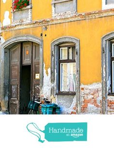 Sopron Hungary Photography Print - Yellow Artwork - Windows and Bicycles in…
