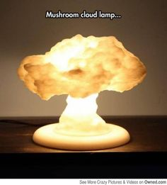 Nuclear Explosion Mushroom Cloud Lamp Makes Lighting Up Any Room A Blast Seeing a mushroom cloud rising into the air isn't usually a good thing. In fact, you'd want to get as far away from it as you could if you saw it . 3d Printing Diy, 3d Printing Service, Easy Home Decor, Diy Room Decor, Mushroom Cloud, Cloud Lamp, Diy Cloud, Modelos 3d, 3d Prints
