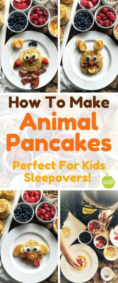 Easy recipes for kids These Bisquick recipes are perfect for kids cooking. Learn how to make simple animal pancakes. Kids can easily make these fun animal pancakes and it's a great way to get more fruit into kids diets. These pancakes are the perfe Cooking With Kids Easy, Easy Meals For Kids, Healthy Family Meals, Healthy Snacks For Kids, Kids Meals, Cooking Kids, Lunch Meals, Cooking Ham, Kids Baking