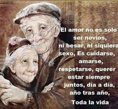 Jose Luis Rojo on Amor Quotes, Life Quotes, Cute Love, Love You, Growing Old Together, Inspirational Phrases, Love Phrases, Romantic Love Quotes, Spanish Quotes