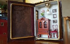 Altered Book Box: Mini Room Night Light - 'Northanger Abbey' Book in Navy