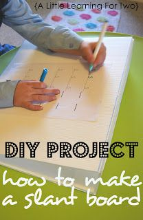 DIY : How To Make A Slant Board - Pinned by @PediaStaff – Please Visit ht.ly/63sNt for all our pediatric therapy pins