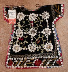 Nomadic Turkmen Cherjew Child's Ceremonial Garment Adorned with Cowrie Shells, #910
