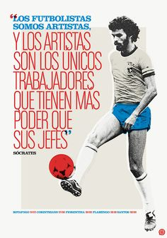 Socrates the artist Football Is Life, Football Art, World Football, Soccer World, Football Shirts, Football Players, Premier League, Soccer Post, Mma