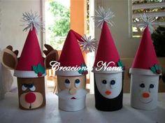 Christmas Toilet Paper, Toilet Paper Roll Crafts, Christmas Ornament Crafts, Christmas Crafts For Kids, Simple Christmas, Kids Christmas, Holiday Crafts, Christmas Decorations, Ideas Navideñas