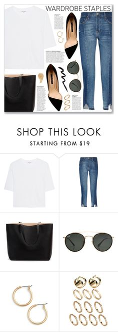 """""""Tried and True: Wardrobe Staples"""" by myduza-and-koteczka on Polyvore featuring Cotton Citizen, Frame, Anja, Ray-Ban, Nordstrom, ASOS and NARS Cosmetics"""