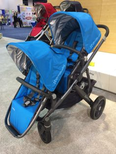 A sneak peek of the new 2015 Uppababy Vista stroller that transforms from single to double with the new Rumbleseat.