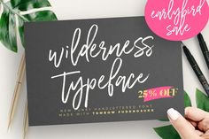 Ad: Brush script font with dry brush using Tombow Fude brush pen, authentic hand lettered font by WornOurMedia Co. $12