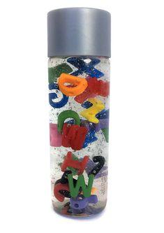 Alphabet Sensory Bottle  / Calming Jar / Autism / ADHD / Sensory Processing Disorder / ABC'c / Soothing / Preschool /Toddler /Classroom Tool Calming Jar, Preschool Rooms, Toddler Classroom, Classroom Tools, Sensory Bottles, Sensory Processing Disorder, Road Trippin, Adhd, Voss Bottle