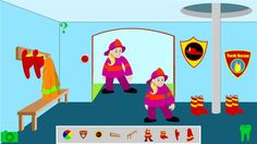 FREE Fire Station Cavity Dragons app available in iTunes. Children decorate w/ badges, boots, jackets & helmets. Move the fireman up the pole. Change colors of fire decor & firefighter. Visit  http://itunes.com/apps/gooseling. (Also available: Cavity Dragons Jr.gives 2-6 year olds educational game play squirting food off teeth with a fireman & his toothpaste hose to get rid of the Cavity Dragons, toothbrushing with fireman on skateboard toothbrush, a tooth puzzle, + fire station page for…