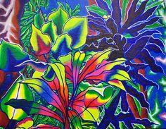 028 rain forest in Hawaii #painting, #art, #liquitex