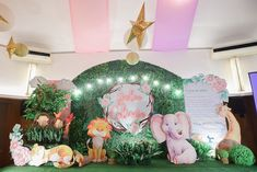 """Julia's """"My Great Big God"""" Inspired Party – Stage Sleeping Tiger, Pink Table, Party Themes, Party Ideas, Event Styling, 1st Birthday Parties, Wonderful Time, Mom And Dad, Eat Cake"""