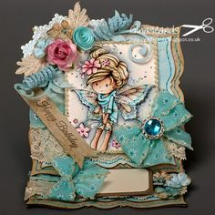 Gina's Cards: New Colour Challenge at the Ribbon girl - Whimsy I...
