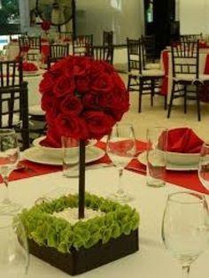 Resultado de imagen de ideas para decorar fiesta de boda color rojo