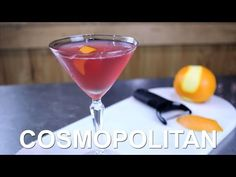 How to make a Cosmopolitan cocktail. Find more cocktail recipes.