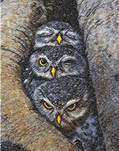 Cute small owls photo stitch free embroidery design - Photo stitch embroidery designs - Machine embroidery community