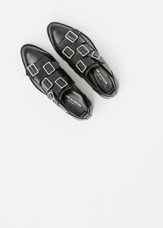 Comme des Garcons Buckle Shoe in Black