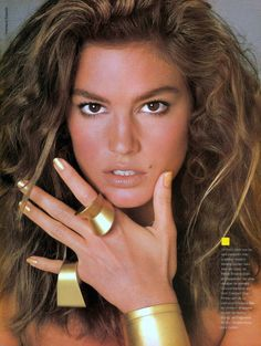 Beauty Shot as envisioned by Francesco Scavullo for Vogue Magazine Ms. Cindy Crawford Circa 1990 Yesssss!