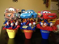 Made these for my sons first birthday! Cars theme party!