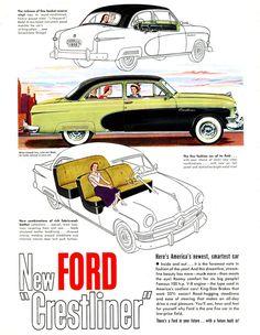 1950 Ford Crestliner advertisement.