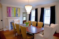 A Delightful Design: dining room before & after: Denise Briant Interiors