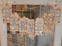 ♥the music old book pages antique lace mother of pearl buttons glittered chipboard letters