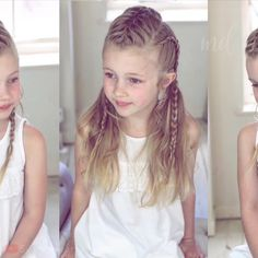 Three fun ways on how to style your princess' hair! Three fun ways on how to style your princess' hair! Little Girl Hairdos, Girls Hairdos, Baby Girl Hairstyles, Princess Hairstyles, Pretty Hairstyles, Braided Hairstyles, Wedding Hairstyles, Updo Hairstyle, Toddler Hair