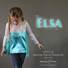 HeidiandFinn modern wears for kids: Elsa top - cupcake top pattern