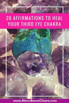Our Third Eye chakra represents our ability to focus on and see the big picture. It is our energetic center of sight, intuition, clairvoyance and thought. Here are 20 affirmations to raise the vibration of your Third Eye chakra: I am intuitive. I trust my intuition. I trust the guidance I get through all of …