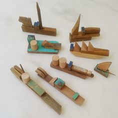 Natural wooden toys by Sarmiento - love!