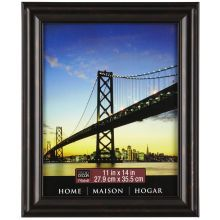 "Black Brown Rubbed Finish Frame, 11"" x 14"""