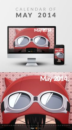 Free Wallpaper Calendar of May 2014 from iBrandStudio. by R.Yahya