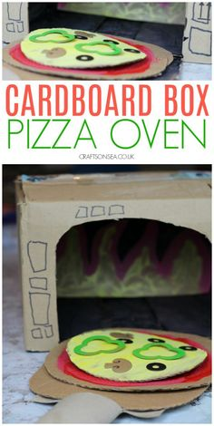 Fun Cardboard Box Crafts for Kids - Cardboard Box , Fun Cardboard Box Crafts for Kids cardboard box crafts kids pizza oven Basteln. Recycled Crafts Kids, Diy Crafts For Kids, Fun Crafts, Creative Ideas For Kids, Kids Craft Projects, Recycling Activities For Kids, Recycling Projects For Kids, Craft Kids, Simple Crafts