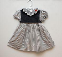 striped girl's dress