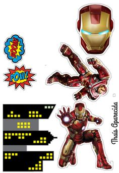 Iron Man, Superhero, Party, Movie Posters, Movies, Character, Diy Creative Ideas, Cakes, Carnival