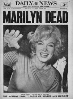 Marilyn Dead. The August 6, 1962 headline around the world.