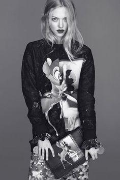 Amanda Seyfried for Riccardo Tisci's Givenchy campaign.