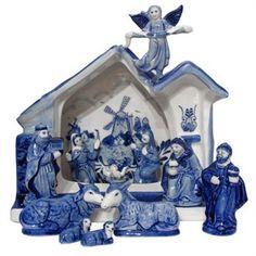 Delft blue nativity set - I want!!