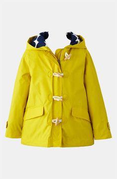 Mini Boden -Fleece Lined Anorak in multi raindrop- Girls #rain ...
