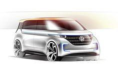 """Lors du Consumer Electric Show """"CES"""" de Las Vegas qui avait lieu du 6 au 9 janvier dernier, Volkswagen a présenté un monospace de loisir électrique nommé B"""