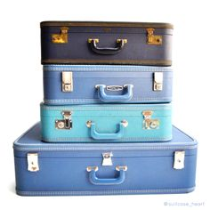 Suitcase Heart: hand-painted vintage suitcases <3 @suitcase_heart