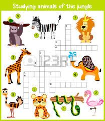 A colorful children's cartoon crossword, education game for children on the theme of the study of wild animals of the jungle and humid equatorial forests. Word Games For Kids, Puzzle Games For Kids, Puzzles For Toddlers, Preschool Puzzles, Toddler Preschool, Big Animals, Arctic Animals, Mathematics Pictures, Free Printable Puzzles