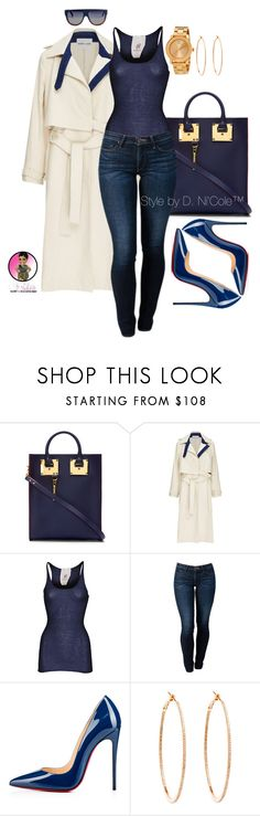 Untitled #2962 by stylebydnicole on Polyvore featuring Friendly Hunting, Sandy Liang, THVM, Christian Louboutin, Sophie Hulme, Movado, Rosa de la Cruz, CÉLINE, women's clothing and women's fashion