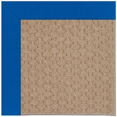 Capel Zoe Grassy Mountain Machine Tufted Reef Blue/Brown Area Rug Rug Size: Round 12' x 12'