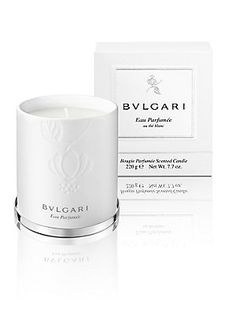 Perfect gift for the Host/Hostess = BVLGARI BVLGARI Eau Parfumée au Thé Blanc Candle