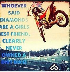 For the sweet love of MOTOCROSS! Our ultimate list of motocross quotes are dirty, funny, serious and always true. Check out our favorite motocross sayings Motocross Quotes, Dirt Bike Quotes, Motocross Girls, Motorcycle Quotes, Motorcycle Dirt Bike, Dirt Bike Girl, Dirt Biking, Motorcross Bike, New Dirt Bikes
